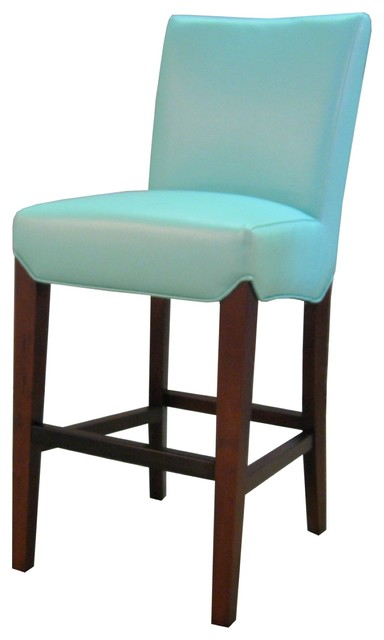 Milton Bonded Leather Counter Stool Aqua Set of 2  : transitional bar stools and counter stools from www.houzz.com size 384 x 640 jpeg 27kB