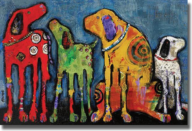 Jenny Foster Best Friends Canvas Art Contemporary