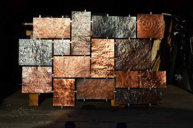 Hammered Copper Wall Art Modern Artwork Milwaukee
