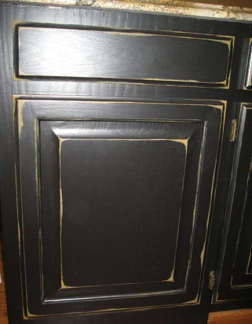 "Distressed Dark Wood Cabinets, ""Wormy"" Cherry Island - Pics?"