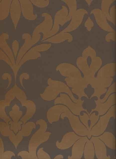 brown on brown damask wallpaper - photo #11