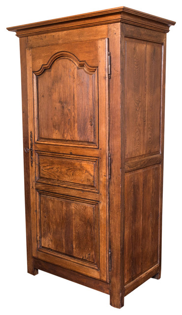 early 18th century french louis xiv style single door armoire or bonnetiere midcentury. Black Bedroom Furniture Sets. Home Design Ideas