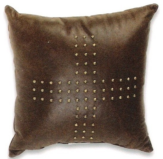 Black Leather Couch Throw Pillows : Prairie Leather Black Color 15