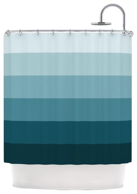 Trebam Cijan Navy Teal Shower Curtain