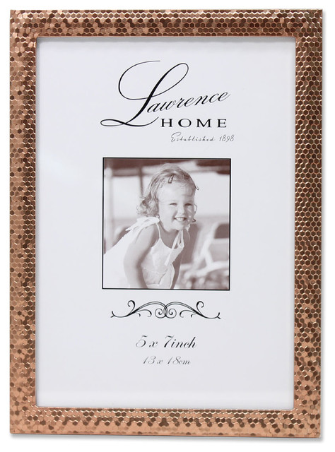 Shimmer metal picture frame rose gold 5 x7 for Cadre contemporain
