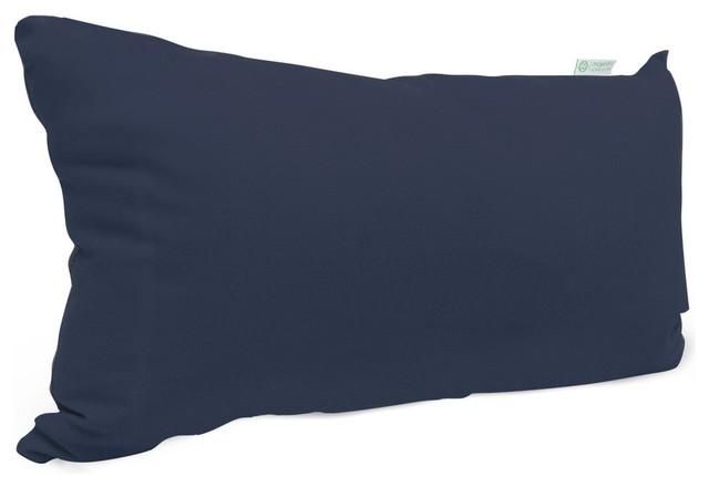 Outdoor Navy Blue Solid Small Pillow Modern Garden