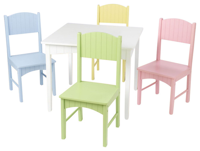 Kids Table And Chair Set Nantucket Table And 4 Pastel Chair Set KidKraft