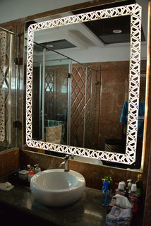 Trios mirror 64inch by 64inch private residence for Bathroom accessories in ahmedabad