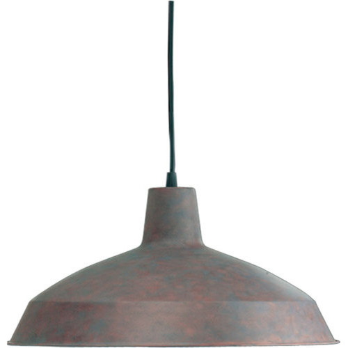 Industrial 1 Light Dome Shaped Pendant Cobblestone
