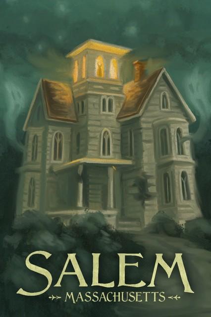 Salem Massachusetts Haunted House Print 16 X24