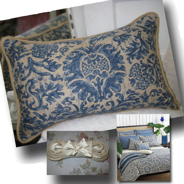 Ralph Lauren Damask Linen Decorative Pillow
