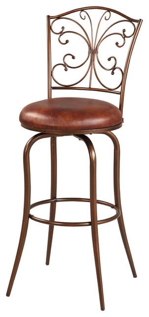 linon butterfly back bar stool contemporary bar stools