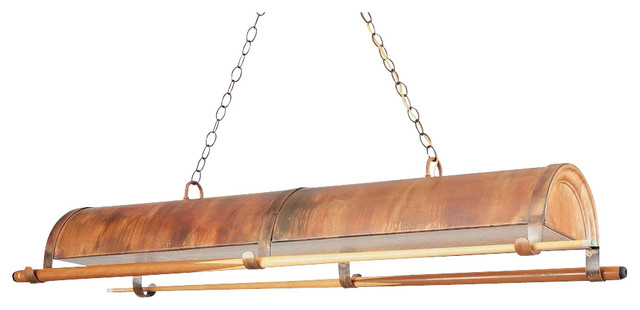 57 in. Billiard Light in Rosewood Finish - Industrial - Pool Table Lights - by ShopLadder