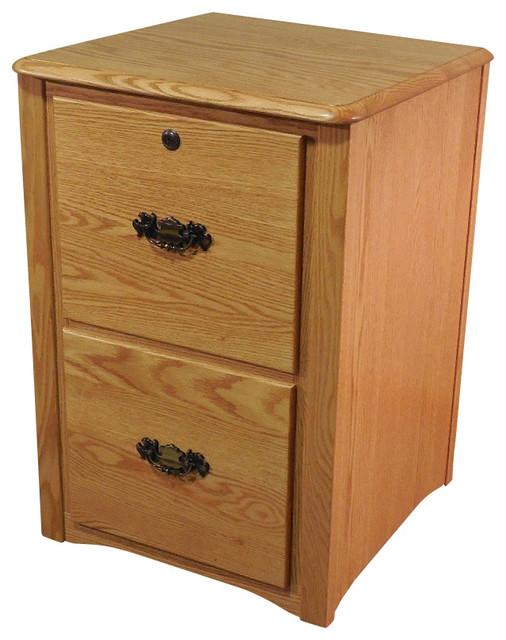 solid oak file cabinet 2 drawer 2