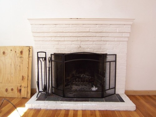 1950 S Fireplace Redo From Ugly Amp Old To Modern Amp Chic