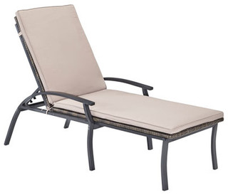 Laguna Black Chaise Lounge Chair Modern Garden Lounge Chairs By Bellacor
