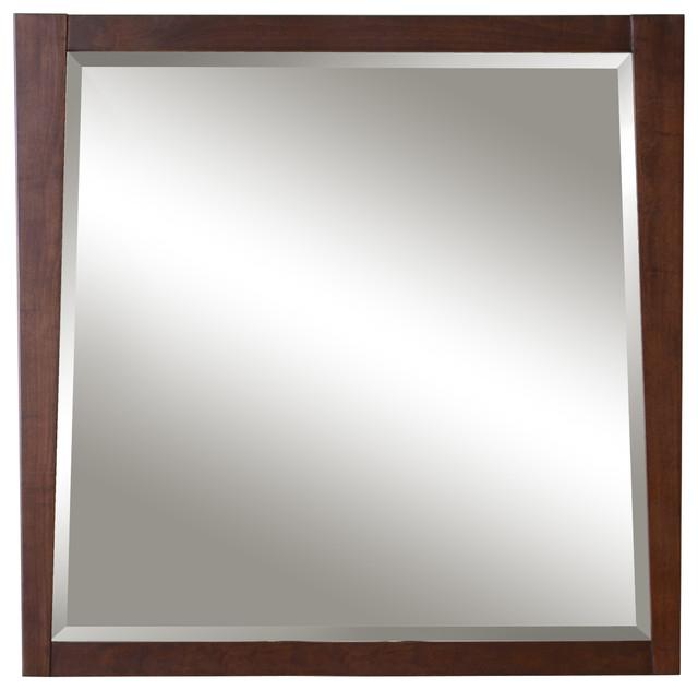"Jayden 36"" Framed Beveled Mirror - Modern - Bathroom Mirrors - by ..."