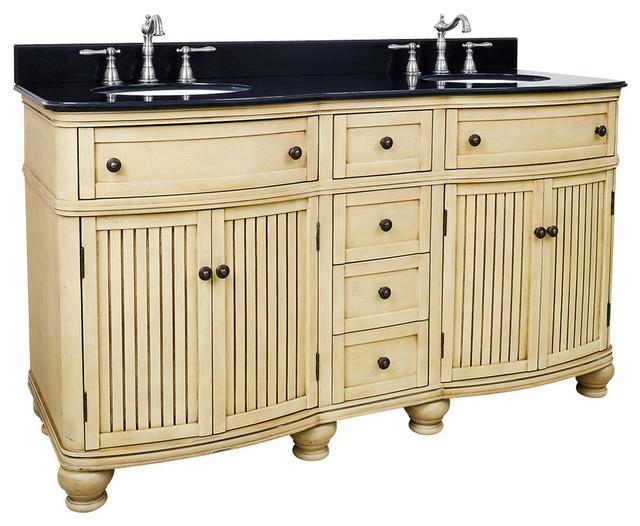 60 Wide MDF Double Vanity VAN028D 60 T Bathroom Vanities And Sink Con