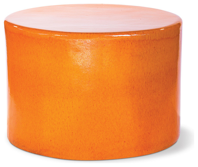 Tambernis chat table orange modern outdoor side for Orange outdoor side table