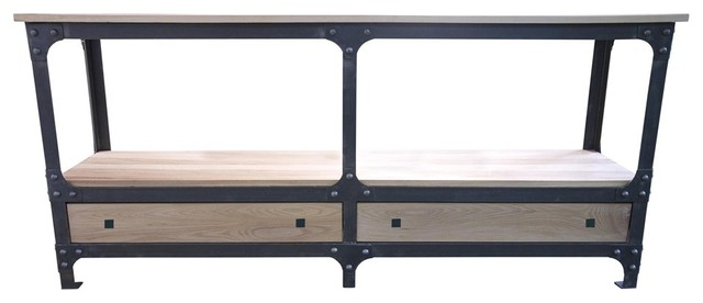 noir metal wood hudson console contemporary console tables by ldc home. Black Bedroom Furniture Sets. Home Design Ideas