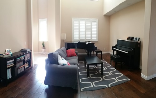 Help with furniture placement of living room with two pianos - Piano for small space decoration ...