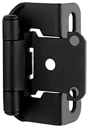 "Single Demountable Flat Black Hinge, 1/2"" - Traditional - Hinges - by mulitpal"
