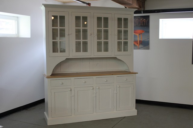 White farmhouse hutch from reclaimed wood - Farmhouse - China Cabinets ...