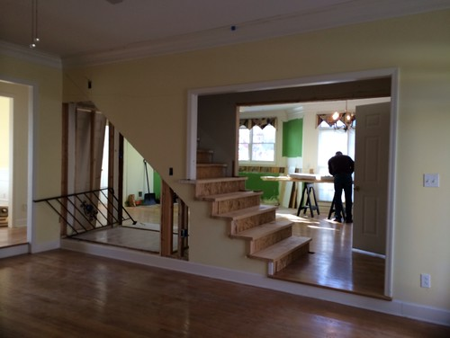 How To Make Wall Design At Home : Removing the wall of staircase