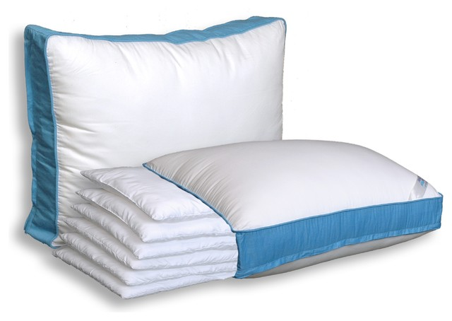 Modern Bedroom Pillows : The Pancake Pillow - Adjustable Layer Pillow - Modern - Bed Pillows - by Gravity Sleep