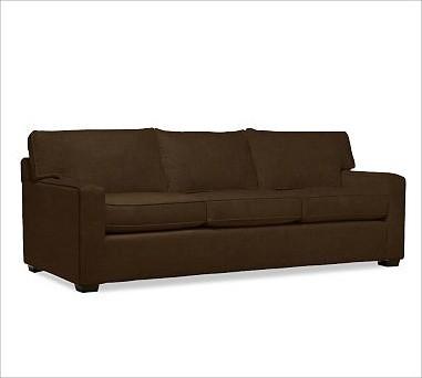 Pb Square Upholstered Sofa Down Blend Wrap Cushions