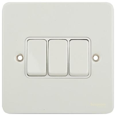 Schneider Ultimate Gang Way Light Switch Painted White Modern Switches And Plug Sockets South West