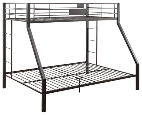 Limbra Twin over Queen Bunk Bed in Black Sand