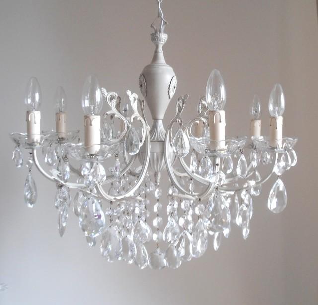 Antique look shabby chic chandelier midcentury