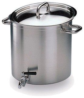 Matfer Bourgeat Excellence Stock Pot With Lid and Faucet, 11.5 Qt. 694224 - Contemporary ...