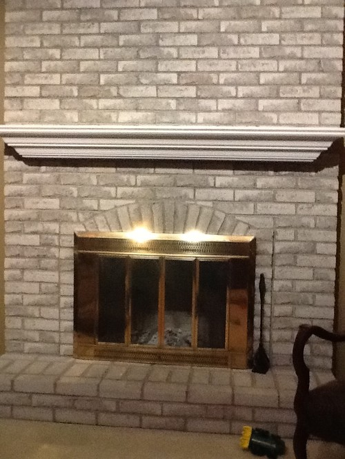 Trying To Decide If I Should Paint The Grey Brick On My Fireplace