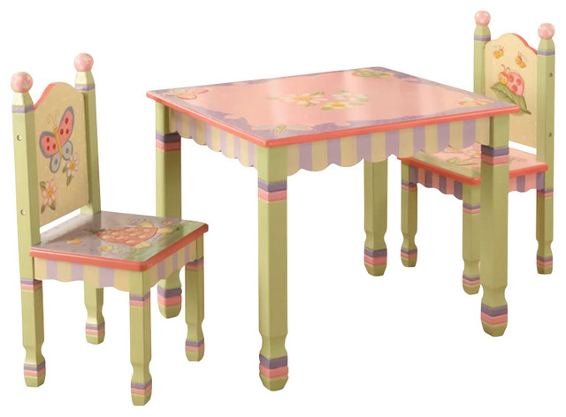 Teamson Kids Magic Garden Hand Painted Kids Table and ...
