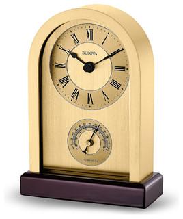 Harding Clock Modern Desk And Mantel Clocks by Bulova