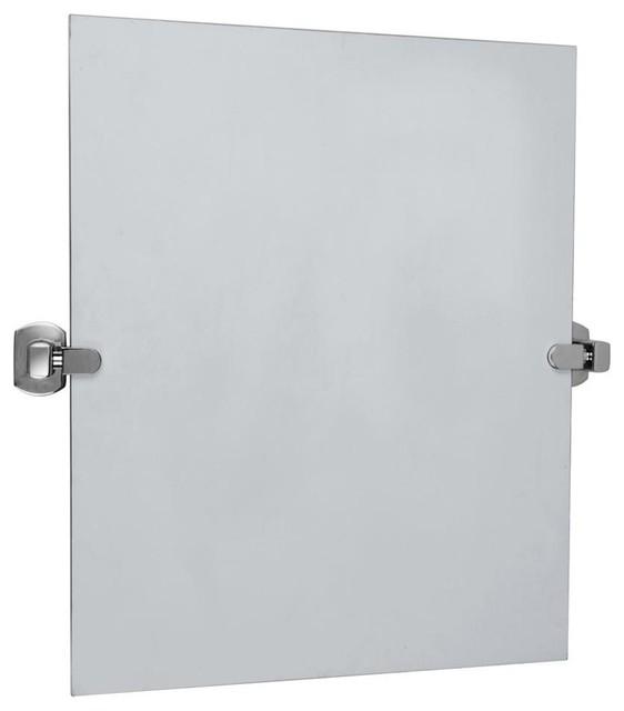 Pivot Mirror in Chrome Plated Finish Contemporary