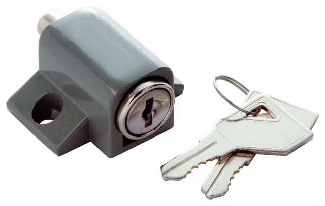 ... Lock in Grey (Set of 10) (Keyed Individually) contemporary-door-locks
