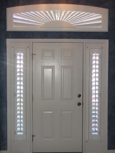 Rectangular Arch And Sidelight Window Coverings