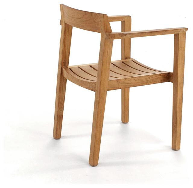 Horizon Teak Armchair Modern Outdoor Lounge Chairs