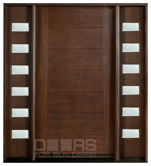 Modern collection custom solid wood doors modern for Single main door designs for home