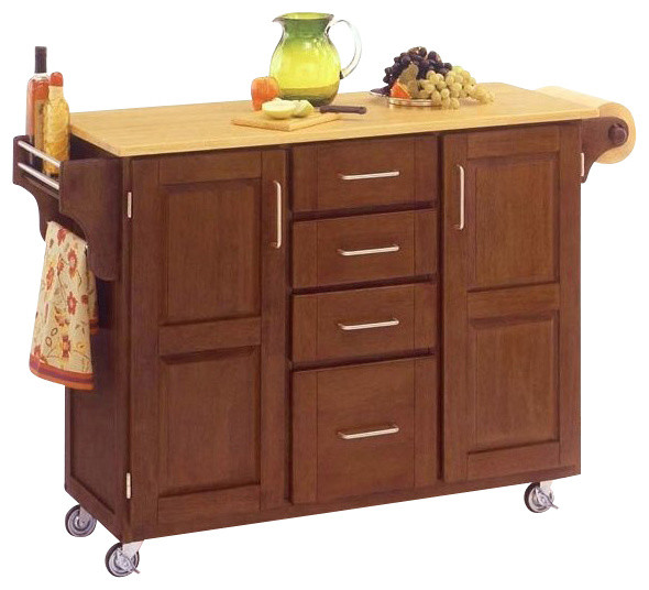 Home Styles Furniture Kitchen Cart In Cottage Oak Traditional Kitchen Islands And Kitchen
