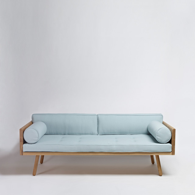 Sofa one blue modern sofas london by another country for Minimalist sofa