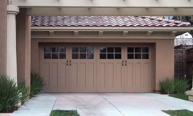 Carriage House Painted Garage Doors Modern Garage
