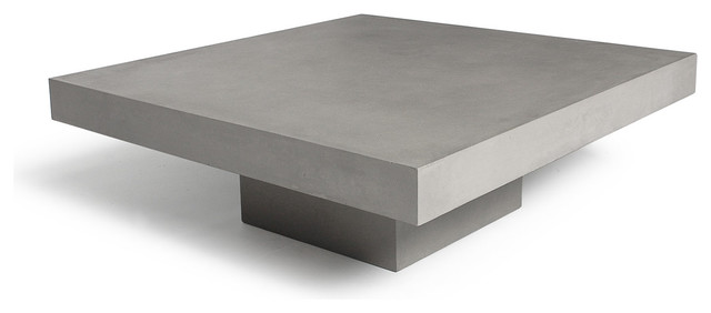 Table basse b ton carr e concrete coffee table - Table basse imitation beton ...