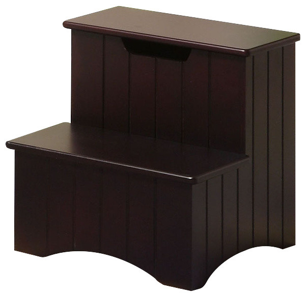 merlot and brown finish wood bedroom step stool with handcrafted heavy duty step stool solid wood bedside