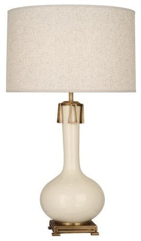 robert abbey athena table lamp in bone traditional table lamps