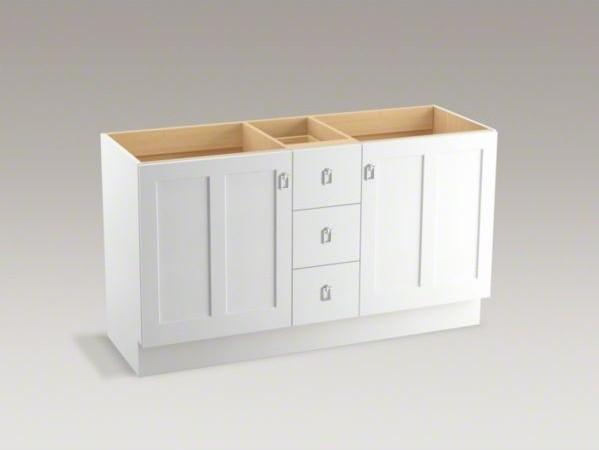 Kohler Poplin Tm 60 Vanity With Toe Kick 2 Doors And 3 Drawers Contemporary Bathroom