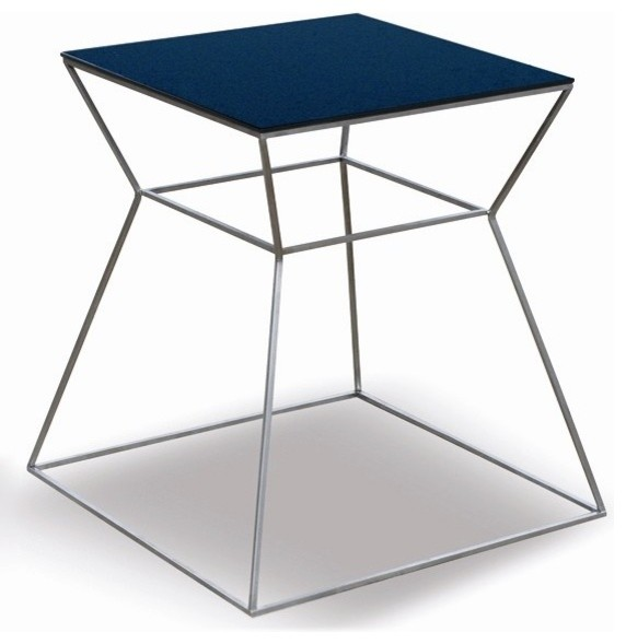 Soho Gakko End Table With Black Glass Top Traditional Coffee Tables Salt Lake City By